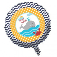 Ahoy Matey Sailing Boat 45cm round foil uninflated