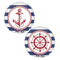 Anchor and  Ships Wheel Foil 45cm Foil Balloon