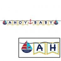Ahoy Matey Baby Ribbon Flag Banner
