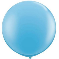 Large Standard Pale Blue Balloon 90cm Latex