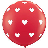 Large Hearts Red Balloon 90cm Latex