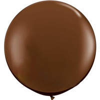 90cm Chocolate Brown Latex Balloon