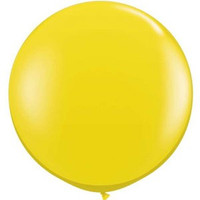 Large Citrine Yellow 90cm Latex Balloon Inflated On Weight
