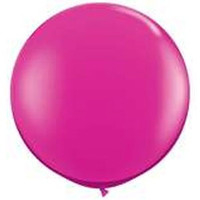 Large Magenta 90cm Latex Balloon Inflated On Weight