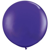Large Purple Violet 90cm Latex Balloon Inflated On Weight
