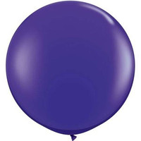 Large Quartz Purple 90cm Latex Balloon Inflated On Weight