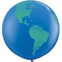 Large World Globe Balloon 90cm Latex