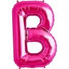Letter B Megaloon Pink Foil 86cm Shape