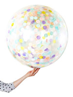 Multicolor Light Confetti Jumbo 90cm Inflated On Weight