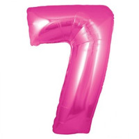 Hot Pink Number 7 Megaloon Balloon