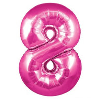 Hot Pink Number 8 Megaloon Balloon