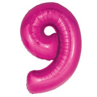 Hot Pink Number 9 Megaloon Balloon