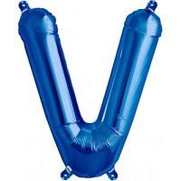 Blue Letter V Megaloon Balloon