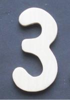 Wooden Number 3