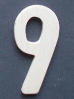 Wooden Number 9