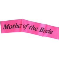 Hot Pink Mother Of Bride Sash