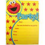 Elmo Licensed Invitations Pack 6