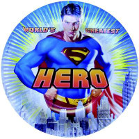SUPERMAN PLATE 8 pcs