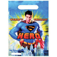 SUPERMAN LOOT BAGS 6 pcs
