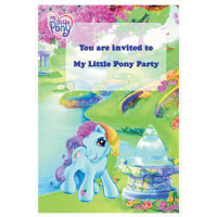 MY LITTLE PONY INVITATIONS 8
