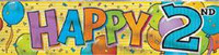 BANNER  HAPPY 2ND BIRTHDAY