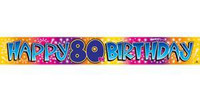 BANNER HAPPY 80TH BIRTHDAY