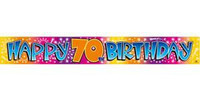 BANNER HAPPY 70TH BIRTHDAY