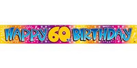 BANNER HAPPY 60TH BIRTHDAY