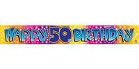 BANNER HAPPY 50TH BIRTHDAY