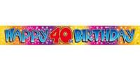 BANNER HAPPY 40TH BIRTHDAY