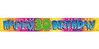 BANNER  HAPPY 30TH BIRTHDAY