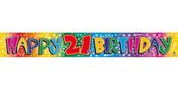 BANNER HAPPY 21ST BIRTHDAY