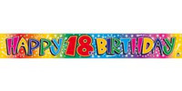BANNER HAPPY 18TH BIRTHDAY