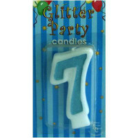 CANDLE NUMBER BLUE 7