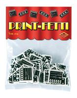 Clapboard & Filmstrip Print-fetti
