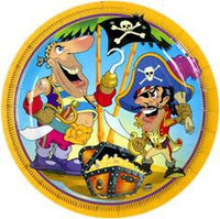 It's a Pirate Party Side Plates Pack 8