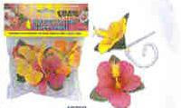 LUAU HIBISCUS TABLE COVER CLIPS 4