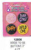 BRIDE TO BE BUTTONS 4