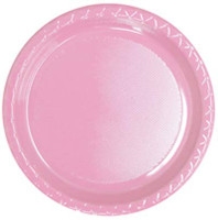 Plate Dinner Heavy Duty Light Pink Pack of 25