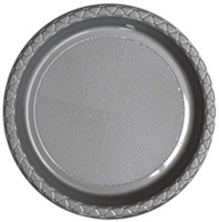 Plate Dinner Heavy Duty Silver 230mm Pack of 25
