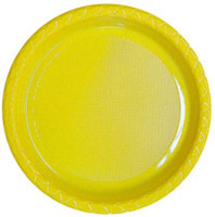 Plate Dinner Heavy Duty Yellow 230mm Pack of 25