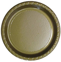 Plate Dinner Heavy Duty Gold 230mm Pack of 25