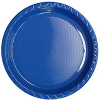 Plate Dinner Heavy Duty Royal Blue 230mm Pack of 25