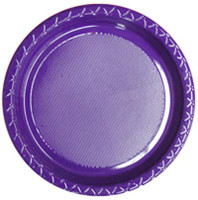 Plate Dinner Heavy Duty Purple 230mm Pack of 25