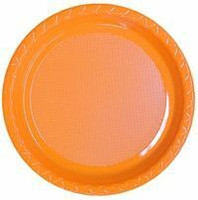 Plate Dinner Heavy Duty Orange 230mm Pack of 25