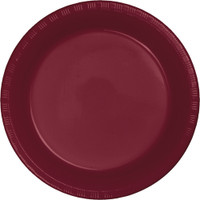 Plate Dinner Heavy Duty Burgundy 230mm Pack of 25