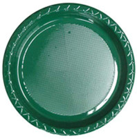 Plate Dinner Heavy Duty Green 230mm Pack of 25