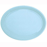 Plate Oval Heavy Duty Light Blue Pack of 25