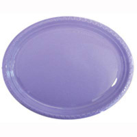 Plate Oval Heavy Duty Lavender Pack of 25