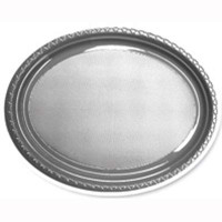 Plate Oval Heavy Duty Silver Pack of 25